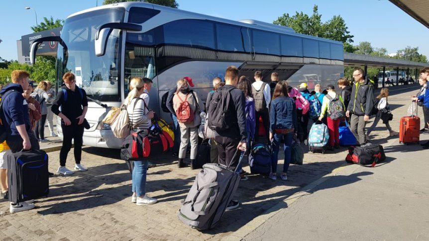 W Warszawie przed wyjazdem
