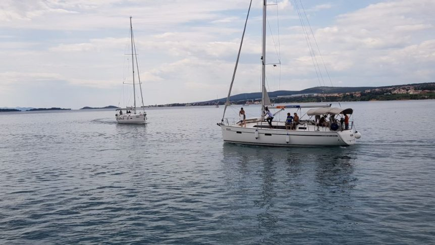 Pierwsze próby na morzu