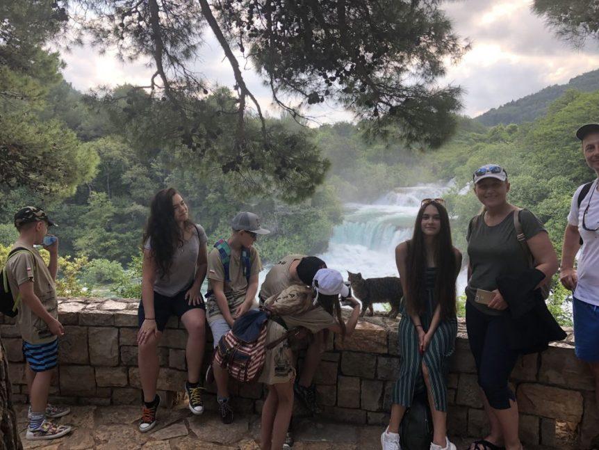 Na wodospadach Krka